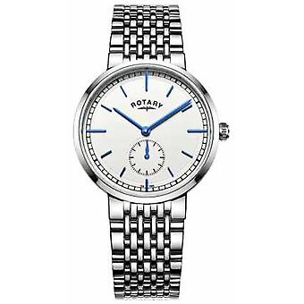 Rotary Mens Canterbury Stainless Steel Bracelet White Dial GB05060/02 Watch