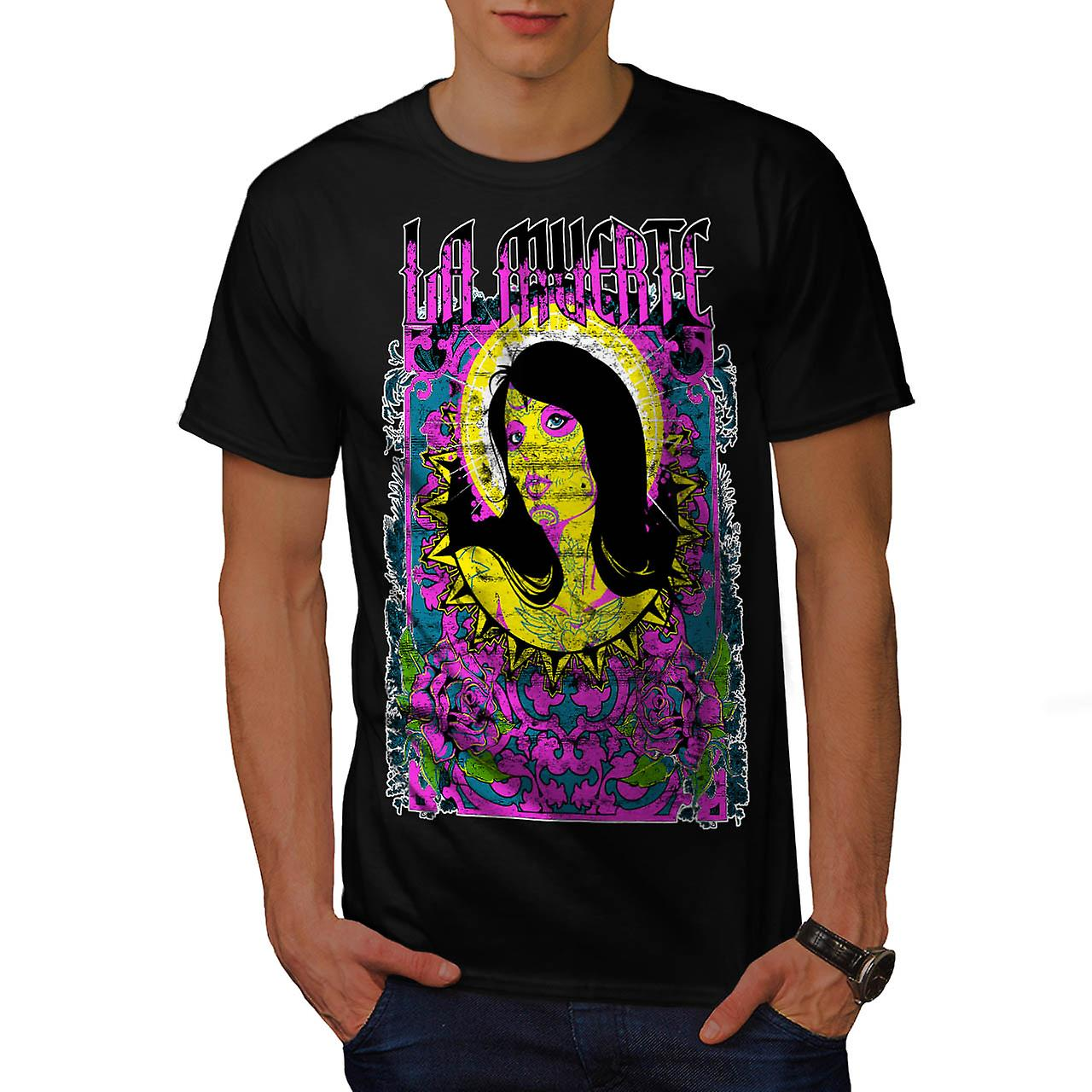 La Muerte Holy Zombie Model Pout Men Black T-shirt | Wellcoda