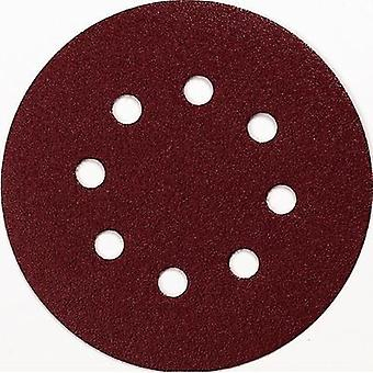 Router sandpaper Hook-and-loop-backed Grit size 100 (Ø) 125 mm Makita P-43561 10 pc(s)