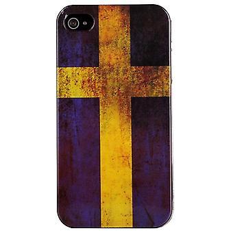 Handyhülle für IPhone 4/4 s-Schweden Flagge (Retro)