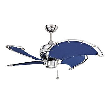 Ceiling Fan Spinnaker blue with pull cord 102 cm / 40""