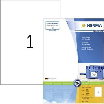 Herma 4428 Labels (A4) 210 x 297 mm Paper White 100 pc(s) Permanent All-purpose labels, Shipping labels Inkjet, Laser, C