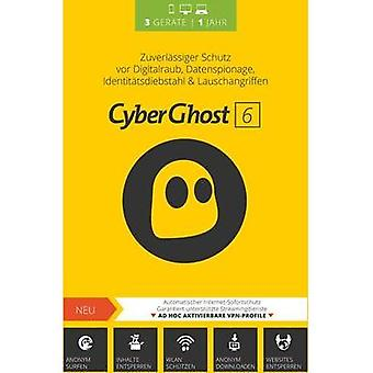 S.A.D. CyberGhost 6 - 3 User Full version, 3 licenses Windows Security