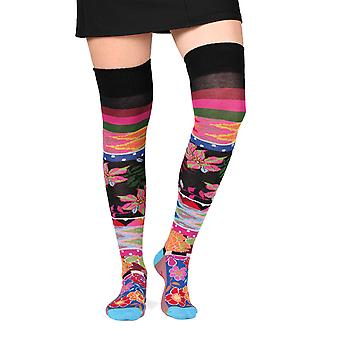 Band women's crazy combed cotton over-the-knee socks | French design by Dub & Drino