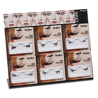 Stargazer Paper False Eyelashes Black Various Designs Bows Rose Hearts & More