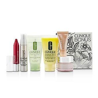 Clinique Travel Set: Facial Soap 30ml + DDML+ 30ml + Moisture Surge Intense 15ml + Smart Serum 10ml +Eye Serum 5ml + Chubby Stick #05 - 6pcs