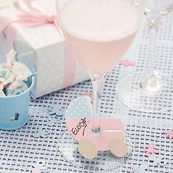 Tiny Feet Baby Shower Party Glass Markers