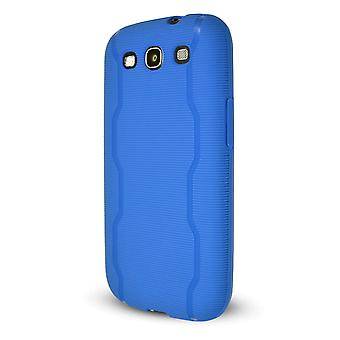 Technocel Textured Slider Skin Cover for Samsung Galaxy S3 (Blue) - SAL710SSTBL-