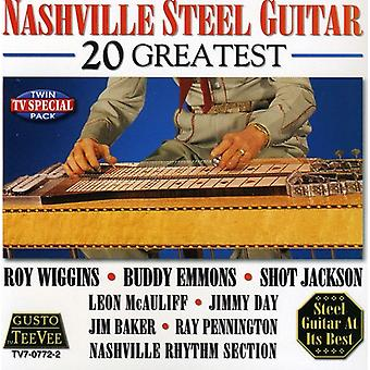 Nashville Steel Guitar-20 Greatest - Nashville Steel Guitar-20 største [CD] USA import