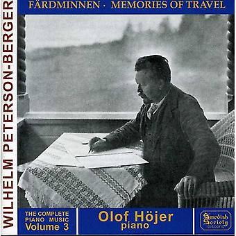 W. Peterson-Berger - W. Peterson-Berger: Complete Piano Music Vol 3 [CD] USA import