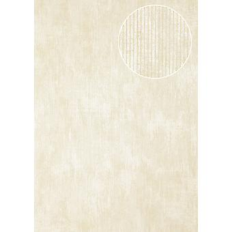 Luxury tree wallpaper Atlas COL-365-3 non-woven wallpaper luxury textured tone on-tone shimmering bright ivory cream 5.33 m2