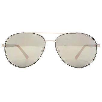 Police Court 1 Aviator Sunglasses In Matte Palladium