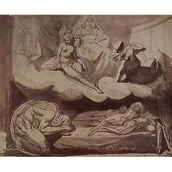 Henry Fuseli - The Room Poster Print Giclee