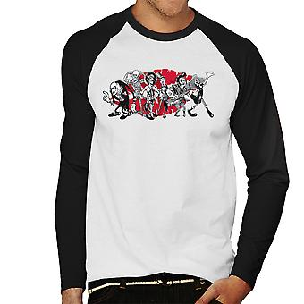 Rocky Horror Picture Show Gang Of Six Men's Baseball Long Sleeved T-Shirt