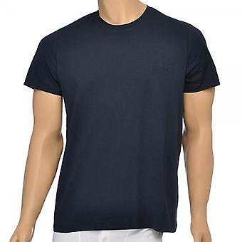 HUGO BOSS Pure Cotton Crew Neck T-Shirt, Navy, Small