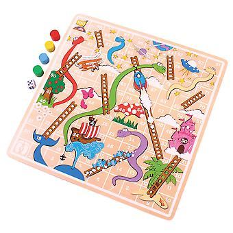 Bigjigs giocattoli Snakes and Ladders