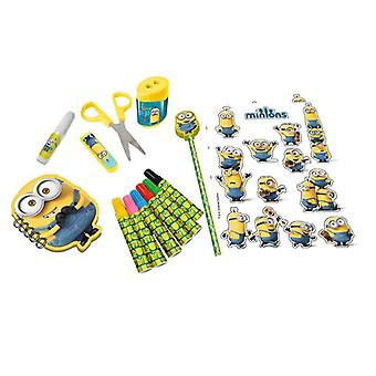 Minions Multi-Activities Stationery Set 15-Piece Inclueds 6x Markers (CMIN046)