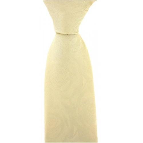 David Van Hagen Wedding Rose Silk Tie - Ivory