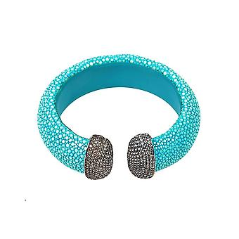 Stingray Cuff Silver - Turquoise (Blue)