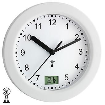 Watch wall clock radio clock bathroom clock Ø 17 cm plastic suction cups