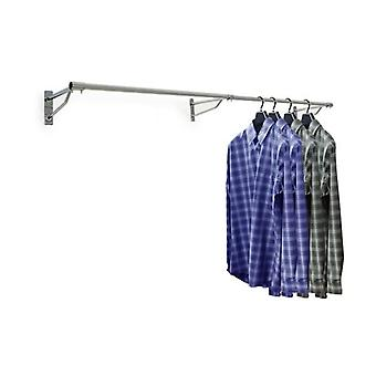 Wall Mounted Clothes Hanging Rail - 2400mm