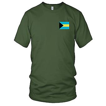 Bahamas land nationale Flag - broderet Logo - 100% bomuld T-Shirt Herre T-shirt