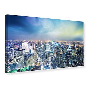Canvas Print Skyline NY At Sunset