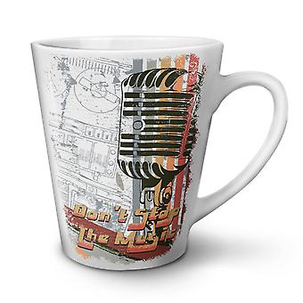 Don't Stop The Music NEW White Tea Coffee Ceramic Latte Mug 17 oz | Wellcoda
