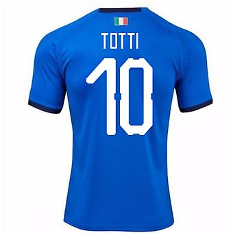 2018-19 Italy Home Shirt (Totti 10) - Kids