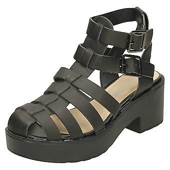 Jenter flekk på tykk hæl Gladiator Sandal