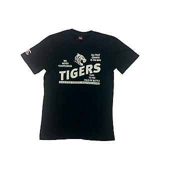 CCC leicester tigers rugby nødlidende arv t-shirt [sort]