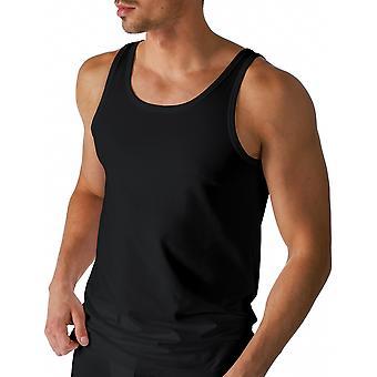 Mey 46000-123 Men's Dry Cotton Black Solid Colour Tank Vest Top
