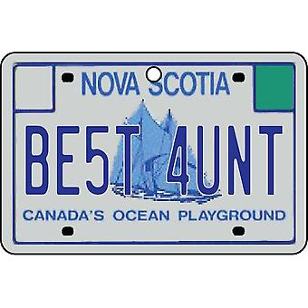 NOVA SCOTIA - Best Aunt License Plate Car Air Freshener