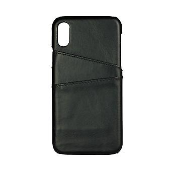 GEAR casing Onsala leather black with Slot iPhoneX