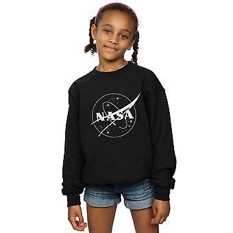 NASA dziewczyny klasyczny insygnia Logo monochromatyczne Bluza