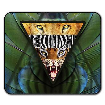 Lion Animal  Non-Slip Mouse Mat Pad 24cm x 20cm | Wellcoda