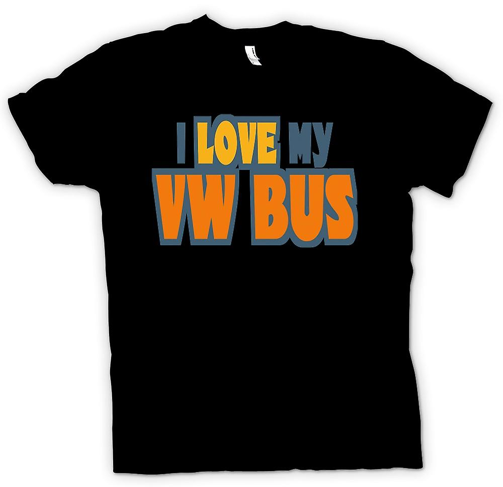 Womens T-shirt - I Love My VW Bus - Car Enthusiast