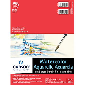 Canson Foundation Series Watercolor Pad 9