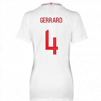 2018-2019 England Home Nike Womens Shirt (Gerrard 4)