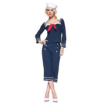Pin Up Sømand pige (Top bukser Hat)
