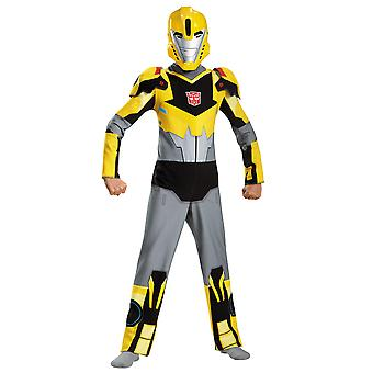 Bumblebee Transformers Animated Autobot Robots Goldback Superhero Boys Costume