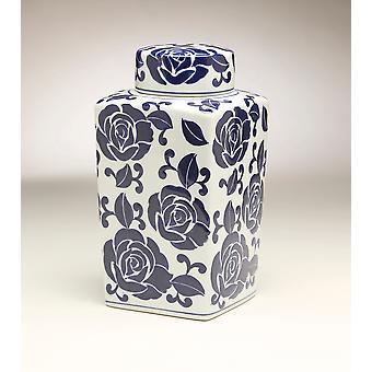 AA som importerar 59949 12 Inch kvadrat blå & vit burk