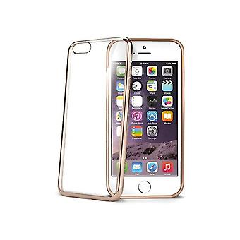 Celly Soft Transparent Laser Cover for iPhone 6/6S - Gold