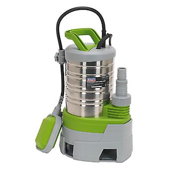 Sealey Wps225P Submersible Stainless Water Pump Auto Dirty Water 225L/Min 230V