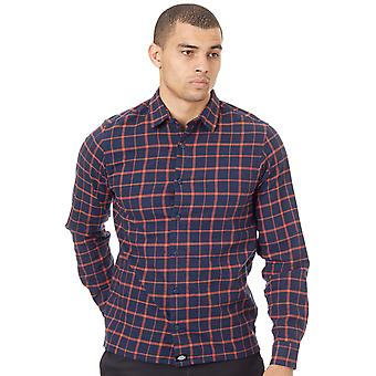Dickies Blue West View Long Sleeved Shirt