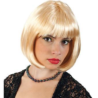 Lola blonde Bob parykk kort hår ponni
