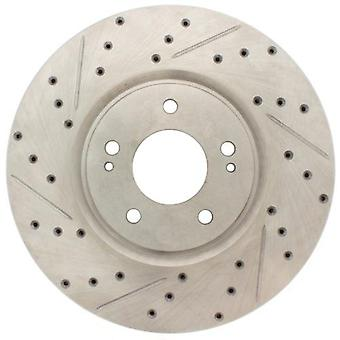 StopTech 227.46065R Select Sport Drilled and Slotted Brake Rotor; Rear Right