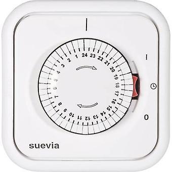 Suevia 348.002 Flush mount timer/power strip analogue 24 h mode 2200 W IP20