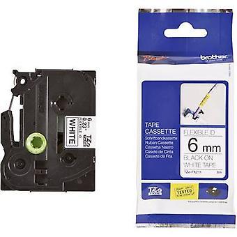 Labelling tape (flexible) Brother TZe-FX211 Tape colour: White Font colour: Black 6 mm 8 m