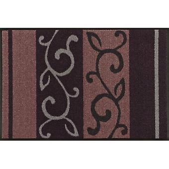 wash + dry mat vine plum 50 x 75 cm